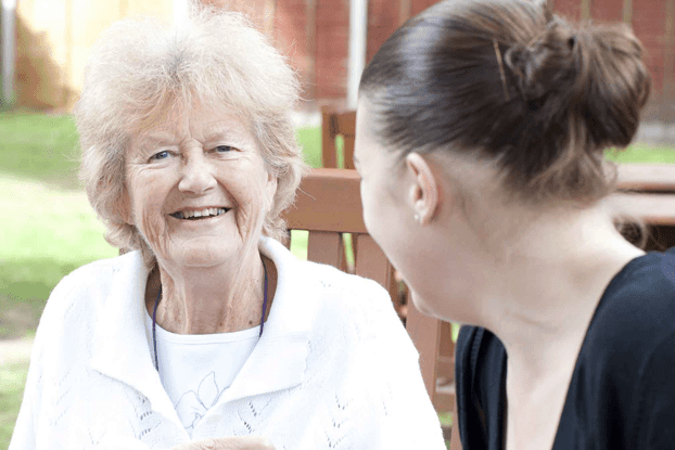 live in care of elderly woman