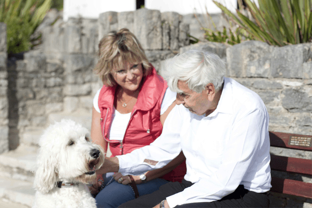 caring for elderly gentleman in his home
