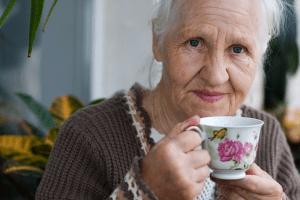 family caregiver providing elderly care