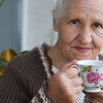 family caregiver providing elderly care