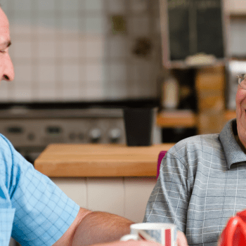 Live-in carer and elderly client
