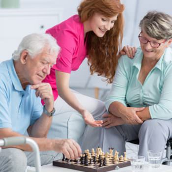 elderly carer - couple with live-in carer