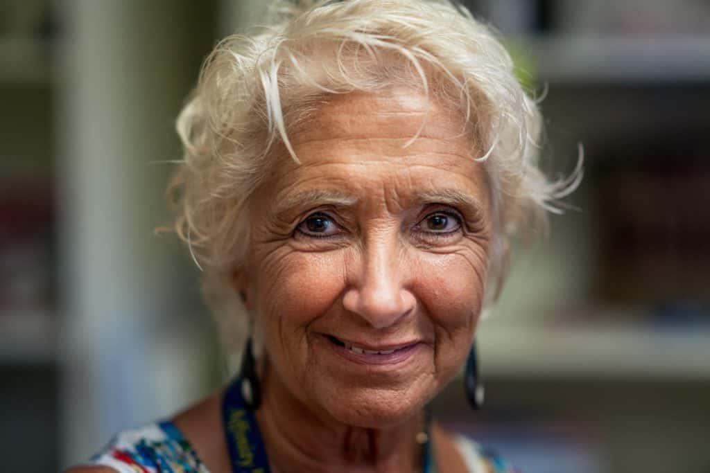 elderly lady with type 1 diabetes
